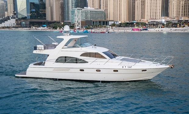 Enjoy Cruising on a 60 foot Yacht for up to 25 people for only AED 699 per hour.