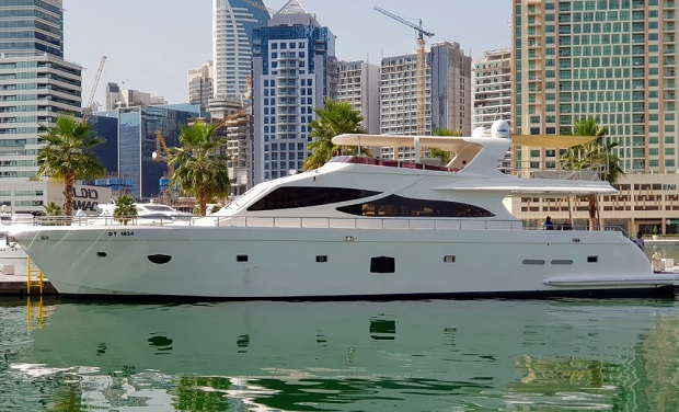 Charter a Spacious and Luxury 88 foot Yacht for only AED 1,399 per hour. Special summer offer.
