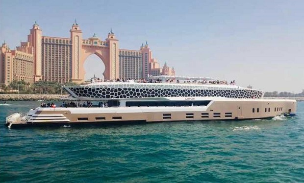 Weekend Evening Brunch on Dubai's Largest Mega Yacht from only AED 239 per person. Open Bar with Unlimited Food & Drinks.