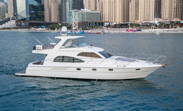 Rent a 55 foot Yacht for up to 25 people from only AED 599 per hour.
