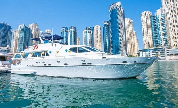 Yacht Charter for up to 34 people. On a spacious 75 foot Yacht from only AED 849 per hour.