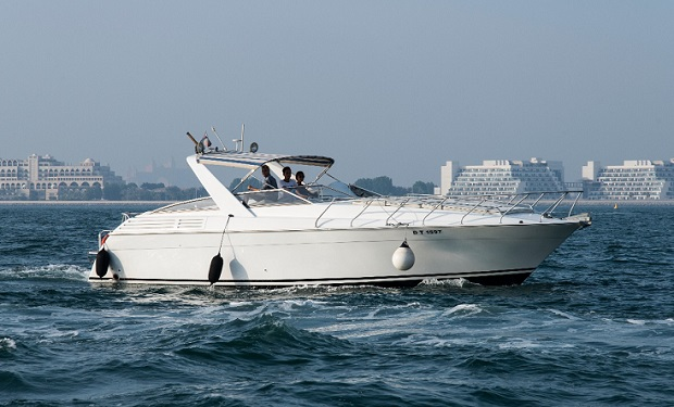 Enjoy 2, 3, 4 or 5 Hour Cruise on a 38 foot luxury Boat for up to 10 people from only AED 899.