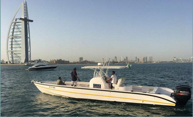 One, Two or Three Hour Cruise on a 40 foot Boat for up to 10 people from only AED 349. Departing from Dubai Marina.