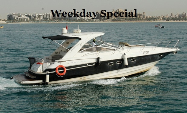 Weekday Special: 2, 3, 4 or 5 Hours Cruise for up to 16 people on a 48 foot Yacht from only AED 699.