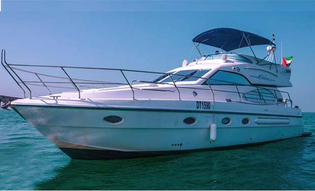 Enjoy 2, 3, 4, 5 or 6 Hour Cruise on a 53 foot Yacht for up to 18 people from only AED 1,399.