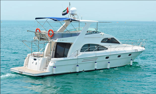Enjoy 2, 3 or 4 Hour Cruise on a 55 foot luxury Yacht for up to 21 people from only AED 1,399.