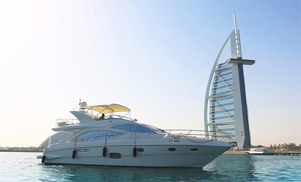 Enjoy Cruising on a Luxury 56 foot Yacht for up to 25 people from only AED 899 per hour.