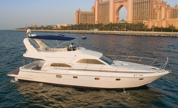 Enjoy Cruising on a 64 foot Yacht for up to 22 people from only AED 749. Departure: Dubai Marina Walk.