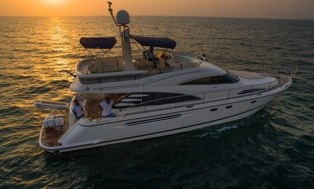 Enjoy Cruising on a 68 foot Yacht for up to 28 people for only AED 949 per hour.