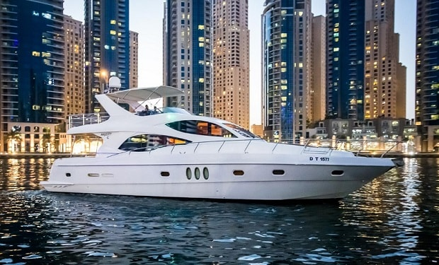 Enjoy Cruising on a Luxury Majesty 70 foot Yacht for up to 30 people from only AED 749.