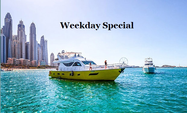 Weekday Special: Cruise on a 80 foot Yacht for up to 40 people for only AED 1,049 per hour.