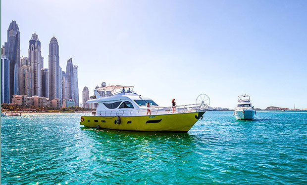 Charter an 80 foot Yacht for up to 40 people for only AED 1,249 per hour.