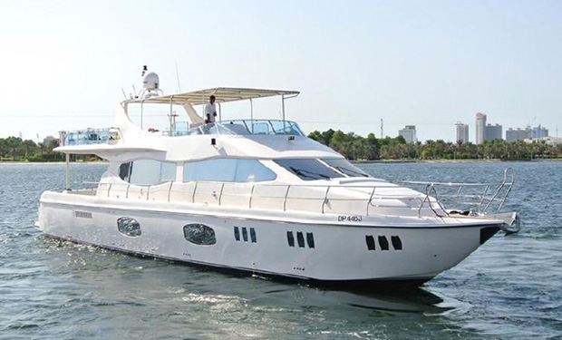 2, 3, 4, 5 or 8 Hours Cruise on 90 foot luxury Yacht for up to 65 people from only AED 4,000.