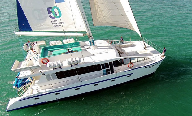Catamaran Cruise for up to 50 people. 2, 3, 4, 5 or 6 Hours Private Charter from only AED 3,349.