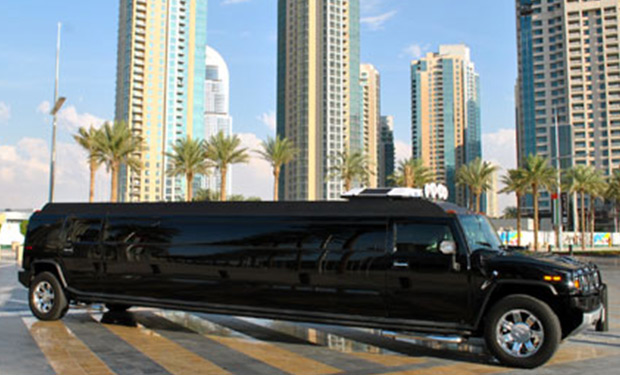 Exclusive Hummer Limousine for up to 18 people for only AED 499 p/h.