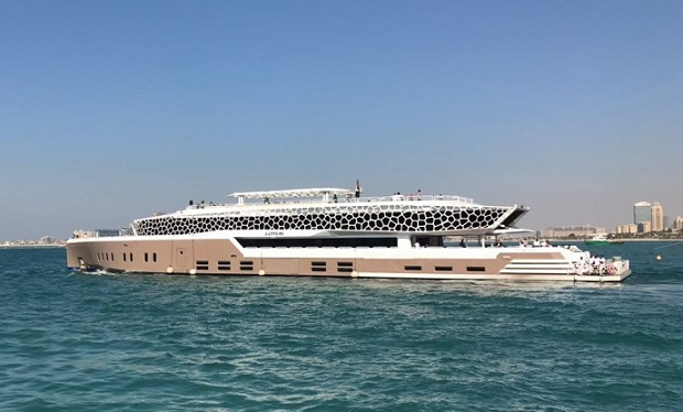 Super Mega Yacht for up to 500 guests for Private Charter: 4, 5, 8 or up to 24 Hours from only AED 50,000.