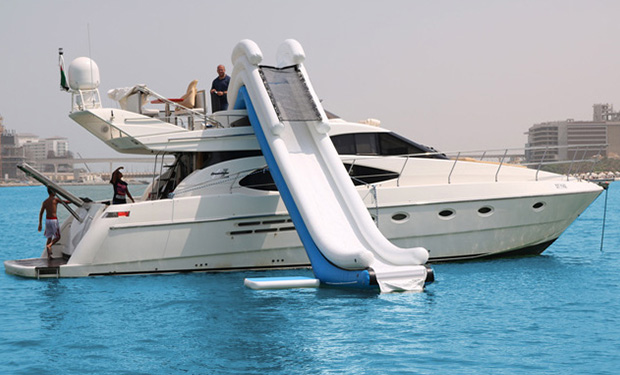 Water Slide - Yacht Charter Experience: 3, 4, 5 or 6 Hour Cruise with a Water Slide from only AED 2,699. Yacht capacity 20 people.