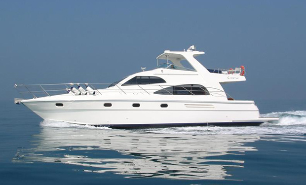 Take a 2, 3, 4 or 5 Hour Cruise on a 55 foot Yacht for up to 22 guests from only AED 1,399.