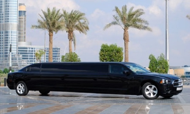 Dodge Charger VIP Limousine for up to 8 people for only AED 299 per hour.