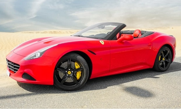 Rent a Ferrari California Turbo Convertible from only AED 2,199 for one day.