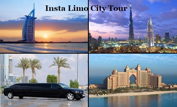 Insta Limo City Tour: Take a private Stretched Limousine for 4 Hour with a professional Photographer for only AED 1,249 for up to 8 passengers.