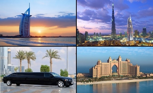 Exclusive City Tour of Dubai on a private Limousine for up to 8 people from only AED 999. Enjoy Hours Limo ride while seeing the main touristic sights.