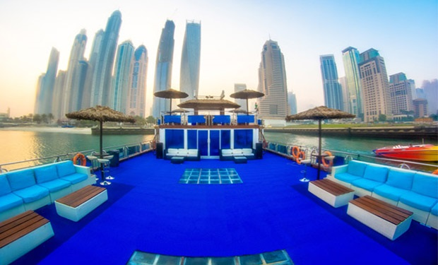 Amazing & unique purposely built Party Boat for up to 90 guests. 3, 4, 5 or 6 Hour Charter from only AED 10,249.