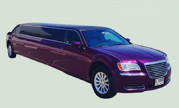 Hire the Unique Purple Limo for up to 10 people for only AED 399 per hour.