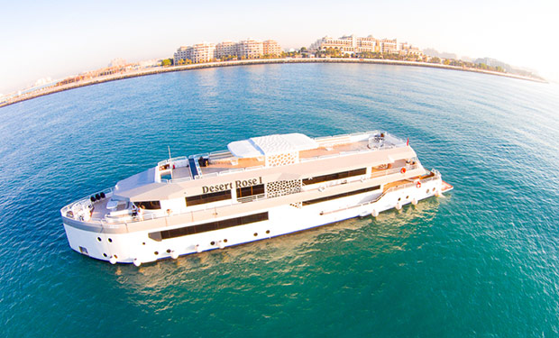 Super Yacht for up to 200 guests for Private Charter: 4, 5, 8 or up to 24 Hours from only AED 20,000.