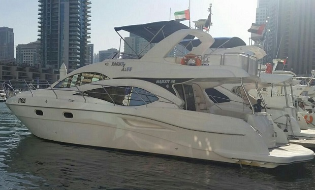 Yacht Charter: Majesty 50 foot for up to 20 people from only AED 649 per hour.